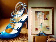 Electric Blue Bridal Shoes