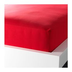 IKEA - DVALA, Fitted sheet, Queen, , Cotton feels soft and nice against your skin.Fits mattresses with a thickness up to 10