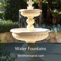 Garden Fountains: This Handcrafted Fountain Will Bring Your Garden To Life. Lionhead Stonecast Fountain Is The Perfect Ornament For A Beautiful And Relaxing Garden. Outdoor Wall Fountains, Garden Fountains, Water Fountains, Fountain Garden, Garden Water, Outdoor Water Features, Water Features In The Garden, Water Fountain Design, Fountain Ideas