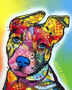"""Pittiful 8""""x10"""" Pit Bull Print - Dean Russo - NEW (DR008) - FREE SHIPPING"""