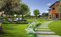 Small Gardens, Stepping Stones, Gazebo, Garden Design, Golf Courses, Environment, Sidewalk, Exterior, Landscape