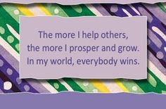 """spiritbearwellness: """"The more I help others, the more I prosper and grow. Louise Hay Affirmations, Prosperity Affirmations, Daily Positive Affirmations, Louise Hay Quotes, Motivational Cards, My Only Love, Wellness, Mental Strength, Life Thoughts"""