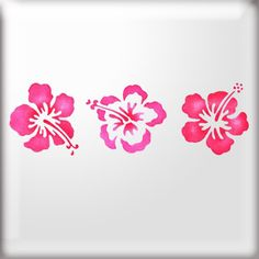3 Hibiscus Flowers Stencil Photo: