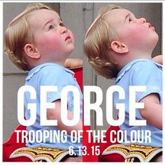 June 13, 2015 - George at his first Trooping the Colour