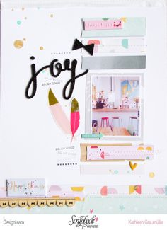 Joy by ScatteredConfetti // #scrapbooking #pinkfreshstudio