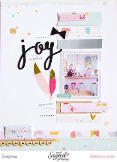 Joy by ScatteredConfetti // #scrapbooking #pinkfreshstudio