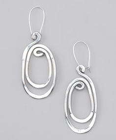 DYT Type 2 Silver Twisted Elegance Drop Earrings by aluminations on @zulily today!
