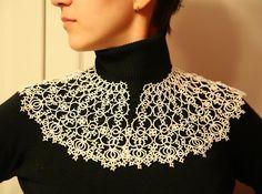 ➿Stoimost 4000₽ thread 100% cotton (made to order) anastasiyayashina # # # tatting svoimirukami #frivolite #tatting # lace lace #Lace # # # kruzhevasvoimirukami needlework pleteniechelnokami #frivolitetatting # # # collar kruzhevnoyvorotnik