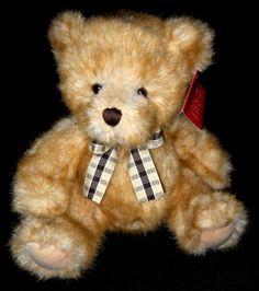 Adorable Russ Berrie Deeken Teddy Bear Plush Toy. Golden Blonde to Light Brown Shaggy Fur, Soft & Plush! New with Tag. #RussBerrie #TeddyBear