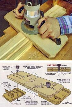 Router Fluting Jig - Woodworking Tips and Techniques   WoodArchivist.com #WoodworkingBench #WoodworkingTips