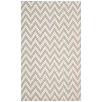 Safavieh DHU557C Dhurries Area Rug, Grey / Ivory