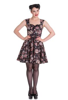 0090c4e37 New Hell Bunny Idaho Sugar Skull Dress online. Plus Size Rockabilly