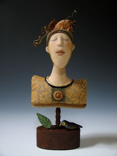 Bust with Fungi Hat copyright 2010 Akira Studios all rights reserved