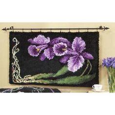 Craftways® Orchid Designer Rug #1 Latch Hook Kit