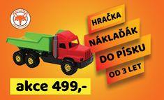Klasika mezi hračkami - nákladní auto v různých barevných kombinacích. Hračka je opatřena aretací proti samovolnému vyklopení korby. Rozměry 76x26x30 cm. Hračka určená pro děti od 3 let. Barevné provedení - podvozek - černá, kabina - modrá, korba - žlutá Toys, Activity Toys, Clearance Toys, Gaming, Games, Toy, Beanie Boos