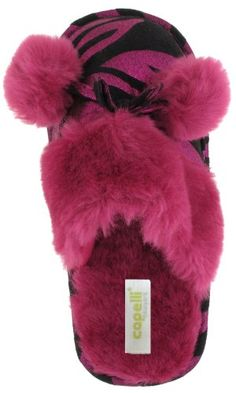 Comfy pink #Zebra slippers