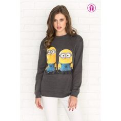 Get the latest trends in women's clothing at Ardene. Shop fashion tops, bottoms, dresses, and more in a variety of styles, fabrics and prints for all seasons. Minion Shirts, Minion Clothes, Minions, Minion Outfit, Bae, Cool Outfits, Fashion Outfits, Fall Winter Outfits, Sweater Jacket