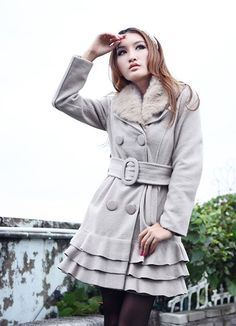 Light Gray Warm Winter Collection Ladies Coats $42.10