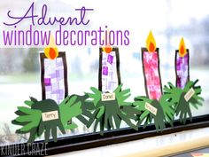 Celebrate the seasons of Christmas and Advent with this simple stained glass window craft made from contact paper, construction paper and tissue paper.