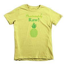 Raw Food Lovers Passionately Raw Pineapple Kids Short Sleeve T-Shirt