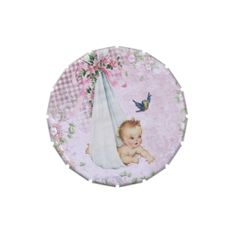 Vintage Pink Baby Shower Candy Tins