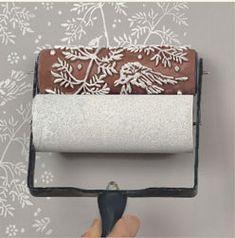 Rouleau de peinture à motifs pour mur, bois et papier