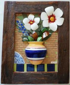 Beautiful #mosaic design             #flowers #art