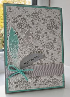Four Feathers and I Love Lace by Stampin' Up!