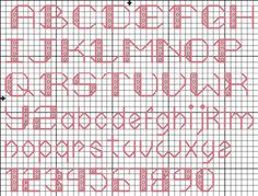 Cross-stitch Letters. Rounded