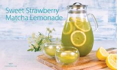 Sweet Strawberry Matcha Lemonade. A delicious summer refresher! (and it's really easy to make)