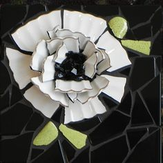Blossom 2  by Donna Lieberman   Maplestone Gallery  Contemporary Mosaic Art