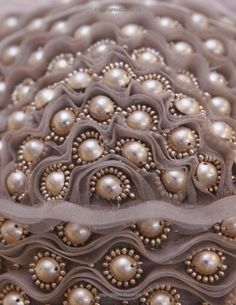 Fashion details: From: The Art of Couture Sewing: Zoya Nudelman. Pearls and organza.