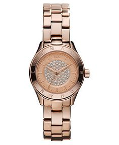 A|X Armani Exchange Watch, Women's Rose Gold-Tone Stainless Steel Bracelet 28mm AX5151 - Women's Watches - Jewelry & Watches - Macy's