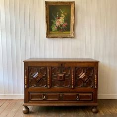 Antique Oak Coffer or Blanket Chest - Decorative Collective