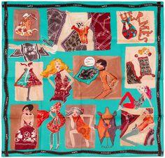Hermes Silk Scarf J'AIME MON CARRE 70cm Turquoise #Hermes #Scarf