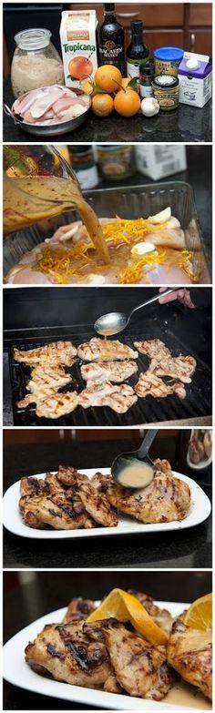 Citrus Rum Grilled Chicken Recipe