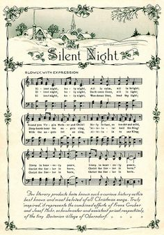 Silent Night Vintage Song Sheet | Flickr - Photo Sharing!
