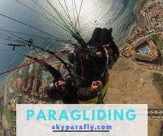 Discover the view through the eyes of a bird. If you are a paragliding lover then click here: http://skyparafly.com/  #ParaglidinginTenerife #AdventureSports #Airsports