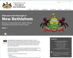TechReady Professionals designed & implemented an online presence for the New Bethlehem Borough Council in New Bethlehem, PA.    New Bethlehem Borough Council fosters business, community, and personal growth within the borough while maintaining the small town appeal and family friendly environment that makes New Bethlehem such a great place to work, live and raise a family.