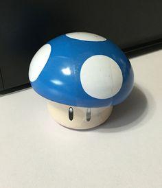 Rare Nintendo Super Mario Bros BLUE Mushroom 1 oz Candy Tin 2 Inch Tall 2007 HTF #Nintendo #supermariobrosbluemushroom #bluemushroom #smbnintendo #nintendobluemushroomtin