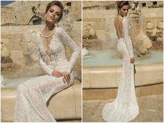 Galia Lahav Wedding Dress - Veneto Gown   -Backless, Long Sleeved Gown