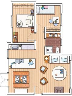 Small Flat Plans for small flats | small flat ideas | pinterest | flats, design and