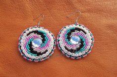 Native American Beaded Earrings - SPIRAL BLING. $35.00, via Etsy.