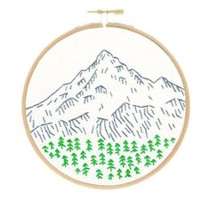 This charming, small embroidery kit of Portland's Mount Hood is part of my West Coast series. If you have West Coast pride, now you can show it off with a stitched landmark you love. This is one of my