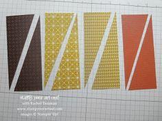 cardmaking photo tutorial ... starburst/sunburst technique ... from Rachel Tessman ...Stampin' Up!