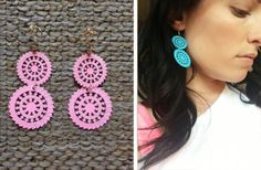 GroopDealz   Doily Earrings New Bright Colors!