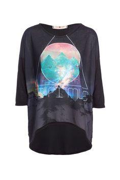 T-shirt avec imprimé galaxie