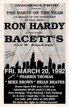 Chicago house music flyer