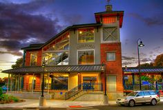 Train station at sunset, Guilford, CT by slack12, via Flickr