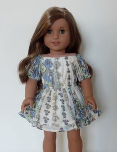 Off Shoulder Dress for American Girl Dolls by BuzzinBea on Etsy
